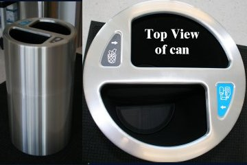Aluminum open top trash can recycle waste can