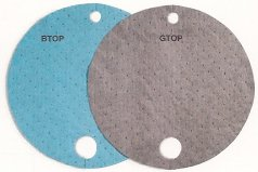 Drum Top Pads Grey Universal 25 pads per package  GTOP