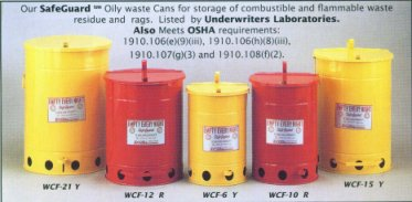Fire Safe Oily Waste Cans Oily Rag Cans